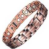 Feraco Elegant 99.99% Pure Copper Magnetic Therapy Bracelet for Men Arthritis Pain Relief