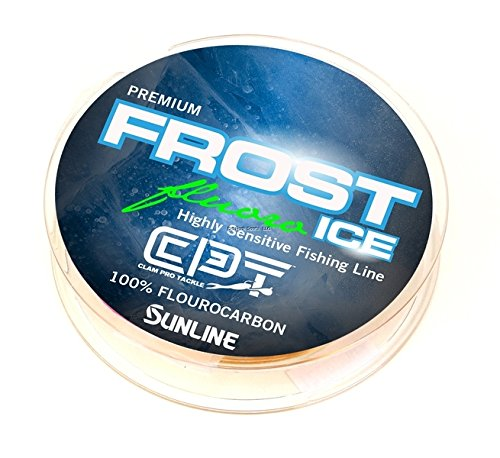 Clam 10965 CPT Frost Fluorocarbon 5lb Metered (Chartreuse/Clear) 50 Yard
