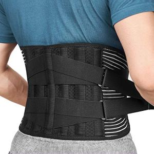 Freetoo Back Braces for Lower Back Pain Relief with 6 Stays, Breathable Back Support Belt for Men/Women for work , Anti…