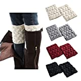 Product review of FAYBOX Short Women Crochet Boot Cuffs Winter Cable Knit Leg Warmers