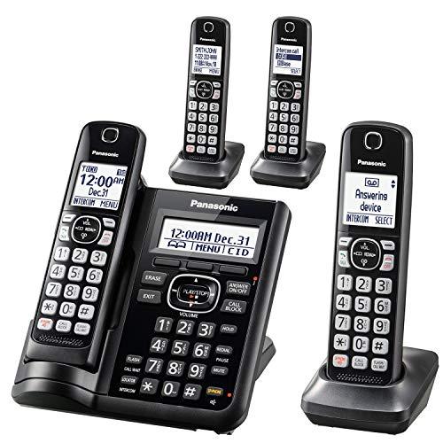 Panasonic KX-TGF544B Dect 4-Handset Landline Telephone
