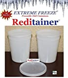 Reditainer Extreme Freeze Deli Food Containers with Lids, 32-Ounce, 24-Pack