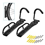 WeYingLe Bicycle Wall Hook Rack Holder Hanger Stand, Vertical Bike Storage, Garage Wall Rack, Mount for Hanging Bicycle, Bike Hook Save The Space (2PACK)