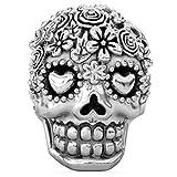 Authentic BELLA FASCINI Flower Bouquet Skull Bead Charm - Dia de los Muertos - 925 Silver - Fits Bracelet