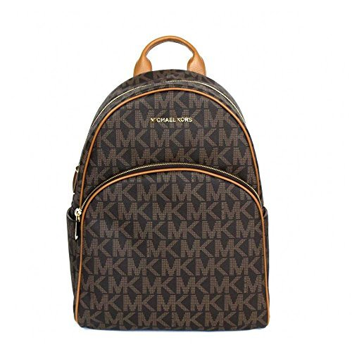 Michael Kors Abbey Jet Set Large Leather Backpack Brown 0128