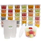 Freshware Food Storage Containers with Lids [36 Pack, 16oz] - Plastic Containers, Deli, Slime, Soup, Meal Prep Containers | BPA Free | Stackable | Leakproof | Microwave/Dishwasher/Freezer Safe