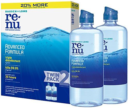 renu Advanced Formula Multi-Purpose Eye Contact Lens Solution, 1 box of 2 x 12 fl oz bottles (355 ml)