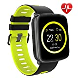 Smart Watch for iPhone & Android Phones,Willful SW018 Smartwatch Fitness Tracker Heart Rate Monitor Watch,Sleep Monitor Pedometer Watch for Men Women Green (IP68 Waterproof,3M Diving)