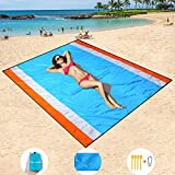 HiSayee Sand Free Beach Mat Oversized 82'x79' Sand Proof Beach Blanket Outdoor Picnic Mat for Travel, Camping, Hiking and Music Festivals-Lightweight Quick Drying Heat Resistant Nylon
