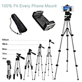 Alovexiong 110cm General Retractable Phone Camera Tripod Portable Adjustable Aluminum Camera Stand with Smartphone Holder Parts for iPhone XR XS Galaxy M20 M30 M40 Z4 G7 P30 Q60 Stylo 5