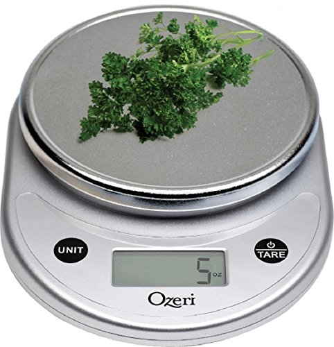 Ozeri ZK14-B Pronto Digital Multifunction Kitchen and Food Scale, Silver