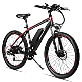 Rattan 26 inch Electric Mountain Bike Shimano 7 Speed E-Bike 36V 10.4Ah Samsung Lithium Battery 350W Electric Bicycle Max 80 Miles Adult Assisted E-Bike