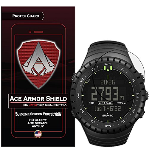 Ace Armor Shield Shatter Resistant Screen Protector for the suunto core all black military with free lifetime replacement warranty