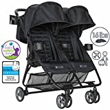 ZOE XL2 BEST Double Xtra Lightweight Twin Travel & Everyday Umbrella Stroller System (Black)