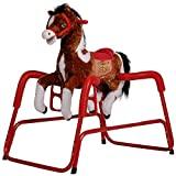 Rockin' Rider Prince Spring Horse Ride On, 39 x 24 x 37.5