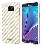 Kate Spade New York Flexible Hardshell Case for Samsung Galaxy Note 5 - Gold Diagonal Stripe