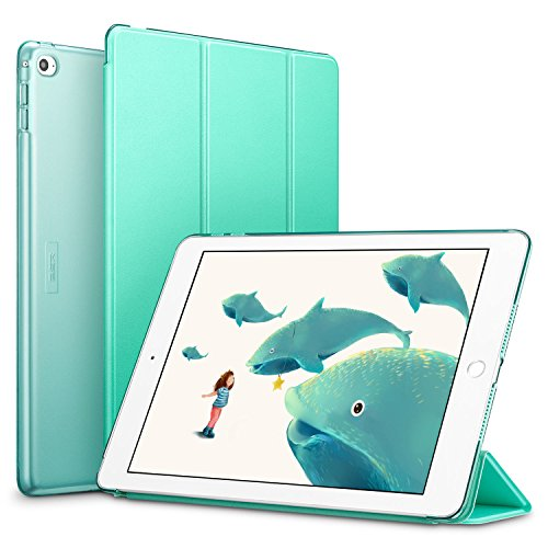 ESR Yippee Smart Case For The iPad Air 2,[Synthetic Leather] [Light Weight] Translucent Frosted Back Magnetic Cover With Auto Sleep/Wake,Mint Green