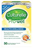 Culturelle Pro-Well Health & Wellness Daily Probiotic Dietary Supplement |Restores Natural Balance of Good Bacteria in Digestive Tract* | #1 Clinically Studied Probiotic†† | 50 Vegetarian Capsules