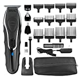 Wahl Deluxe Aqua Blade Wet/Dry Beard Trimmer Kit - Lithium Ion All in One Grooming Kit for Beard, Ear, Nose, Body - Waterproof Cordless Rechargeable - Model 9899-100