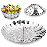 Steamer Basket Seafood Steamer Food Steamer Vegetable Steamer 100%Stainless Steel - 5.3
