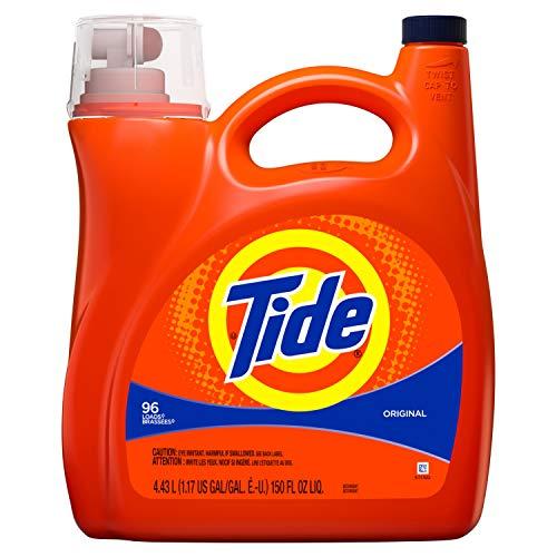 Tide Liquid Laundry Detergent, Original, 96 Loads 150 fl oz(Packaging May Vary)