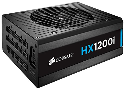 Corsair HXi Series, HX1200i, 1200 Watt (1200W), Fully Modular Power Supply, 80+ Platinum Certified