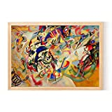 crack of dawn Kandinsky Abstract Figures Posters and Prints Canvas Art Decorative Wall Pictures for Living Room Home Decor Unframed Painting,50x75Cm No Frame,1