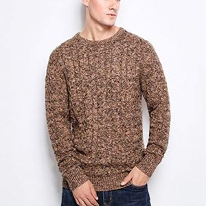 NanGate New Men's Sweaters Warm Thick Men Pullover 100% Cotton Trend Knitted Jacquard Sweater Men