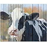 CounterArt 15 by 12-Inch Glass Cutting Board, Sweet Daisy Cow