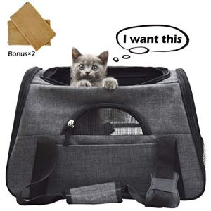 FRUITEAM Soft-Sided Pet Carrier for Large Cat, Small Dog Kennel, Soft Cat Carrier Sling, Collapsible Pet Travel Bag for Kitten & Puppy