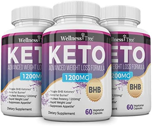 (3 Pack) Keto Diet Pills - Max Strength 1200mg Utilize Fat for Energy with Ketosis - Boost Energy & Focus, Manage Cravings, Support Metabolism - Keto BHB Supplement for Women and Men 3