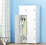 Product review for MEGAFUTURE Portable Wardrobe Cupboard Organizer Clothes Closet Cabinet Shelf Cabinet with Stickers (8 Cubes)