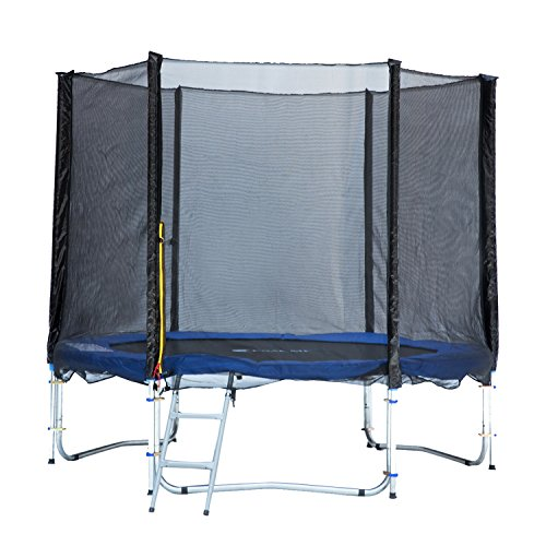 Exacme TUV Approved Trampoline with Safety Pad & Enclosure Net & Ladder All-in-One Combo Set, 8'