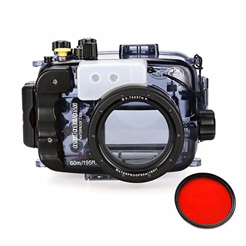 Seafrogs-40m130ft-Waterproof-Underwater-Camera-Housing-Case-for-A6000-A6300-A6500-Can-Be-Used-With-16-50mm-Lens-w-EACHSHOT-Red-Filter