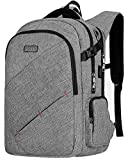 VSNOON Laptop Backpack, TSA Friendly Business Travel Anti-Theft Laptop Backpack Bag for Women & Men with USB Charging, Durable Water Resistant Collage School 15.6 Inch Computer Rucksack Daypack- Grey