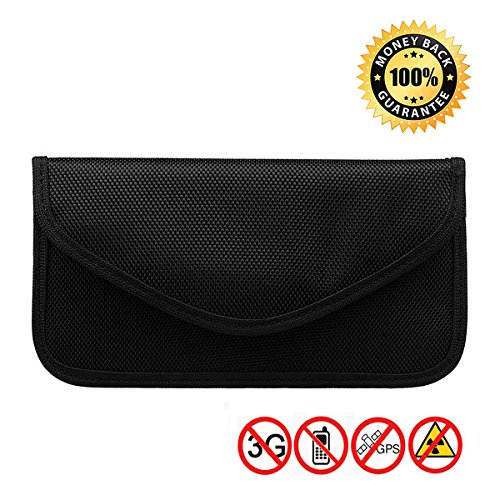 Anti-radiation Bag Anti-tracking Pouch EMF Protection for Phone Anti-spying GPS RFID Signal Blocker Bag Handset Function Cell Phone Case and Others Privacy Protection and Car Key FOB