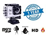 Twogood BM400 Action Camera 12Mp 1080p Wide Angle Lens Waterproof Sports Camera (1 Year Warranty, Assorted Colour)