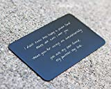 Laser Engraved Aluminum Wallet Love Note Insert, Metal Wallet Card Insert, Mini Love Note Idea, Romantic Gift for Him, Perfect for Anniversaries, Deployments, Weddings, Boyfriends, Husband