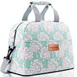 BALORAY Lunch Bag for Women with Shoulder Strap Insulated Lunch Bag Lunch Tote for Work,Picnic (Green)