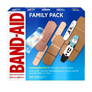Band-Aid Brand Adhesive Bandage Family Variety Pack in Assorted Sizes including Water Block, Sport Strip, Tough Strips… 51Bu72sUmgL