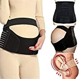CROSS1946 Pregnancy Maternity Support Belt, Abdominal Binder Belly Band Support for Back, Waist, Abdomen and Daily Activities (Black X-Large)