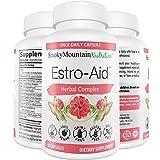Estro-Aid: Estrogen-Free Menopause Supplements. 60 Capsules (2 Month Supply) DIM Supplement, Black Cohosh, Wild Yam, Chrysin & Red Clover. for Estrogen Balance, PMS & Weight Loss. Non-GMO & Vegan