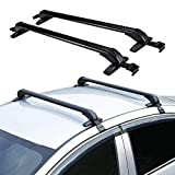 ONEPACK Car Crossbars Roof Luggage Racks for 4 or 5 Door Cars,Car Top Luggage Roof Rack Cross Bars Carrier Adjustable Window Frame (100cm Roof Rack)