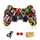 dainslef PS3 Controller Wireless Bluetooth Double Shock Sixaxis Remote Gamepad for Sony PS3 Playstation (Graffiti) ...