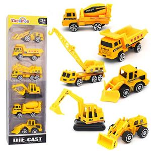 Alloy Engineering Truck Mini Pocket Size Construction Models Play Vehicles Toy Party Favors Cake Decorations Topper Birthday Gift for Kids ,6Pcs Set 51C0WNNDLcL