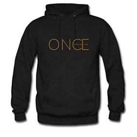 Custom Unisex Once Upon A Time Hoodie Men's and Women's Hoodie Sweatshirt US XL Black