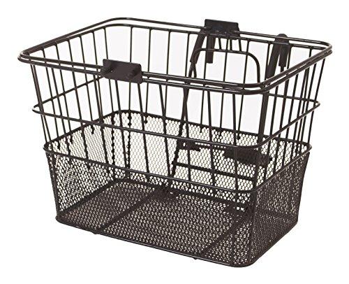 Retrospec Bicycles Detachable Steel Half-Mesh Apollo Bike Basket with Handles, Black