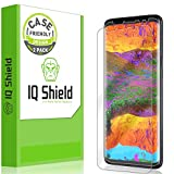IQ Shield LiquidSkin Case Friendly Screen Protector for Galaxy S9 Plus HD Clear Film [2-Pack]