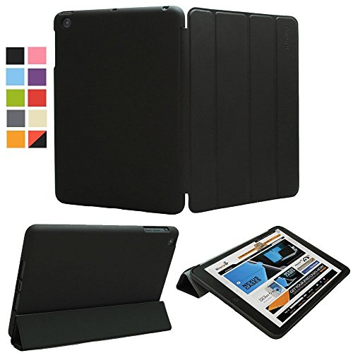 KHOMO iPad Mini 1 2 3 Case - Dual Series - Ultra Slim Black Cover with Auto Sleep Wake Feature for Apple iPad Mini 1st, 2nd and 3rd Generation