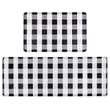 Pauwer Anti Fatigue Kitchen Rug Sets 2 Piece Non Slip Kitchen Floor Mats Cushioned Comfort Standing Mat Waterproof Stain Resistant